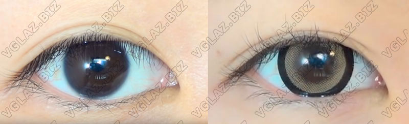 линзы с ободкои для карих глаз фото