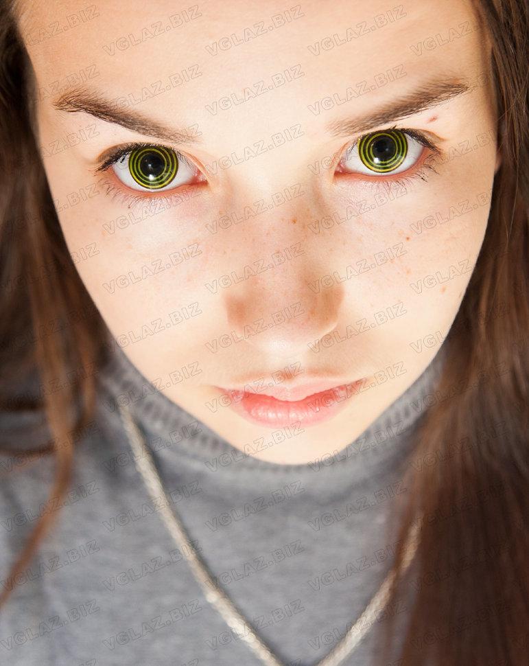 линзы голубые на зеленые глаза фото
