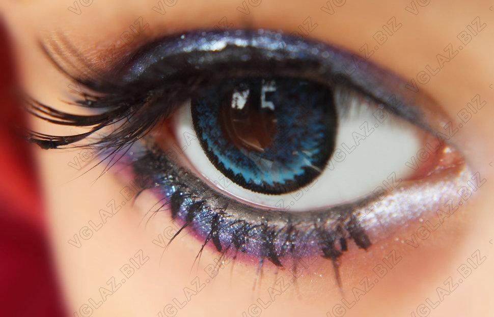 Как из карих глаз сделать голубые в 116